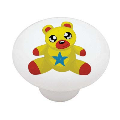 Teddy Bear Peeper Ceramic Drawer -