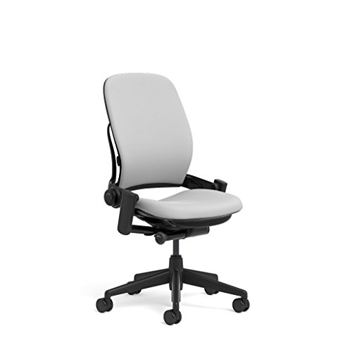 Steelcase Leap Task Chair: Black Base - Armless - No Headres