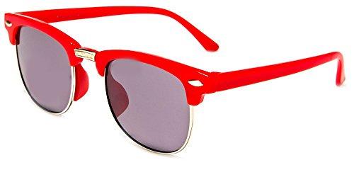 Price comparison product image Hillcrusher Girls AGES 3 -9 Gafas De Sol Wayfarers Kids Sunglasses (Red, Gray)