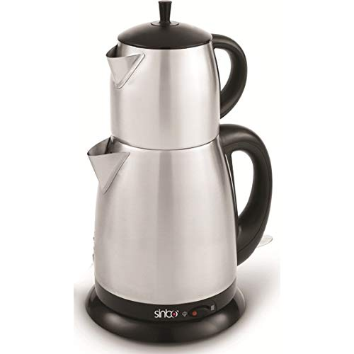 Sytstore Sinbo Inox Electric Turkish Tea Pot Set Kettle Water Heater Auto Shut-Off and Boil-Dry Protection