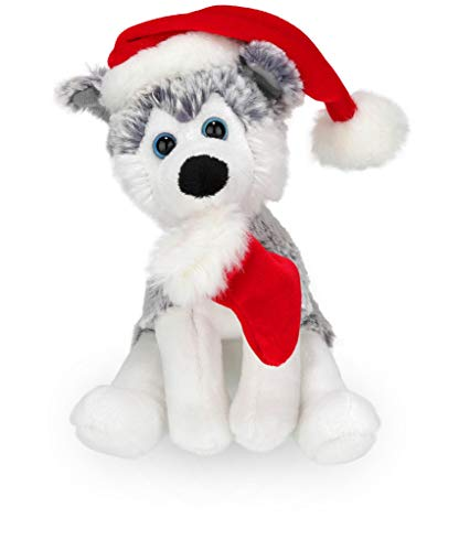 f3376d28077 Plushland Xmas Pawpal with Santa Hat Stuffed Animals Plush Puppet Dog 8  Inches for Kids -