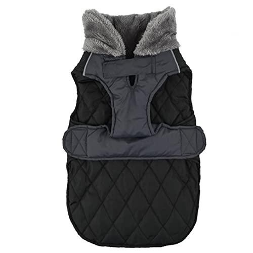 Coat Hondenmaat Big Cat Winter Waterproof winddicht omkeerbare Stormguard Dubbelzijdig Zwart M
