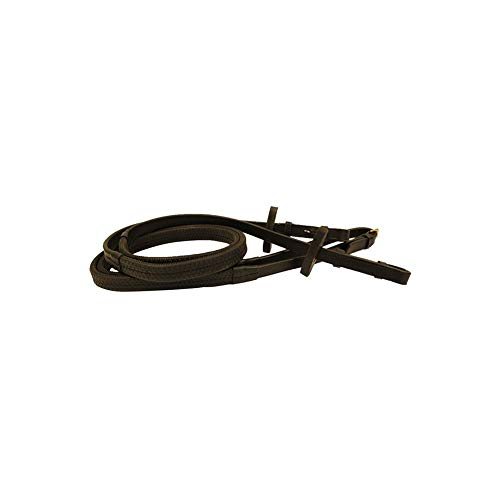 - Rambo Micklem Rubber Reins Horse Black