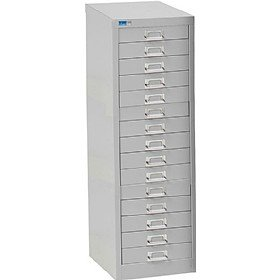 Ordinaire Silverline 15 Drawer Lockable Multi Drawer Cabinet   Light Grey