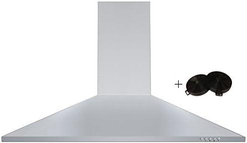 Cookology CH900SS Extractor de humos sin marca, montaje en pared, de 90 cm, campana extractora de acero inoxidable y filtros: Amazon.es: Grandes electrodomésticos