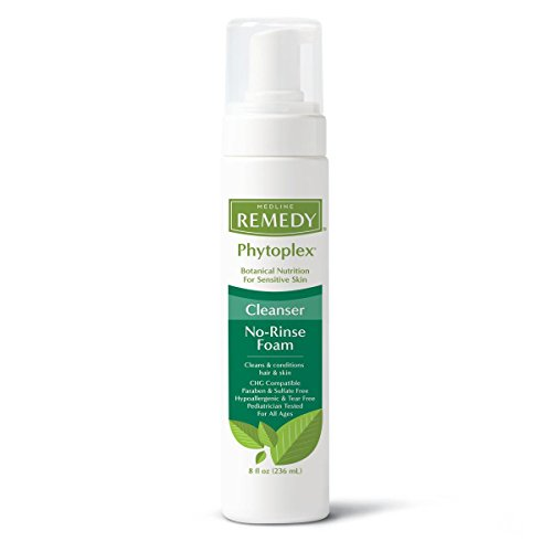 Medline Remedy Phytoplex Hydrating Cleansing Foam, 8 Fluid Ounce