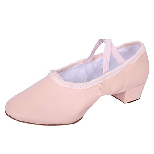 Xinantime Women's Dancing Shoes Leathers Soft Bottom Cat Claw Shoes Split Sole Ballet Shoe/Sandals Pink