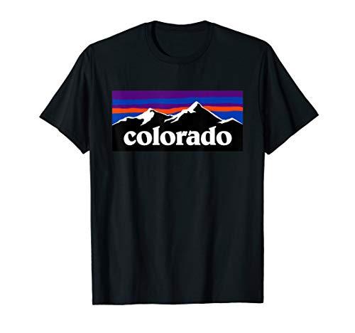 Colorado Mountains Outdoor Flag Design T Shirt MCMA ()