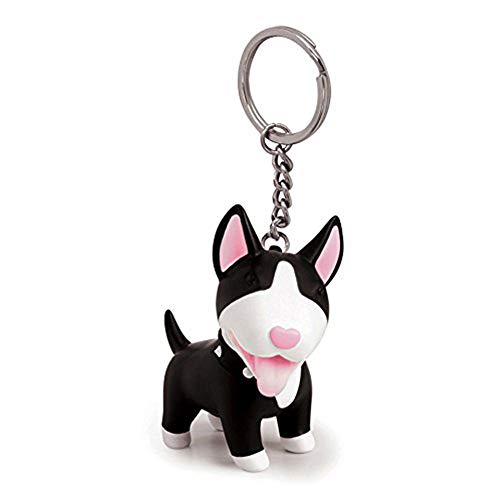 YGMONER Dog Keychains Bag Pendent, 4 Type Choosable (Black Bull Terrier)