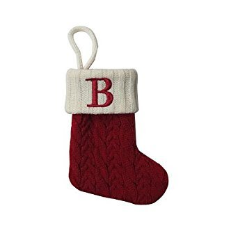 St. Nicholas Square Mini Cable Knit Stocking-Letter B]()