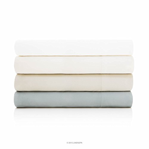 LINENSPA Ultra Soft Luxury 100% Rayon from Bamboo Sheet Set - Twin...