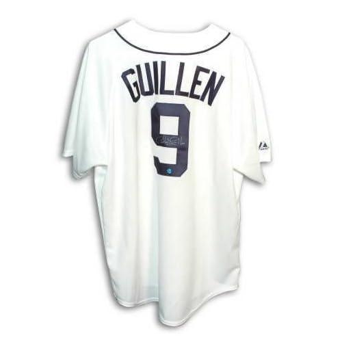 huge selection of 41160 7d101 hot sale Autographed Carlos Guillen Detroit Tigers White ...