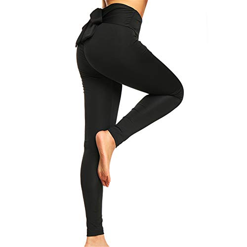 CROSS1946 Women's High Waist Back Ruched Legging Butt Lift Yoga Pants Hip Push Up Workout Stretch Capris M