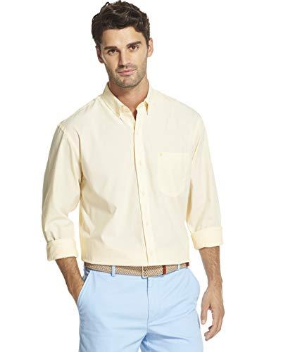 - IZOD Men's Button Down Long Sleeve Stretch Performance Solid Shirt, Sundress, Medium