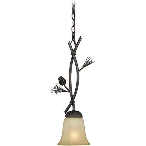 (Mini Pendants 1 Light Fixtures with Black Walnut Finish Steel Material Medium 6
