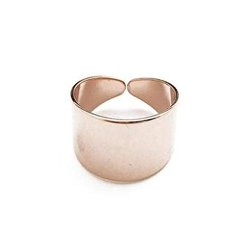 HONEYCAT Thick Wrap Open Band Ring   Minimalist, Delicate Jewelry (Rose Gold)