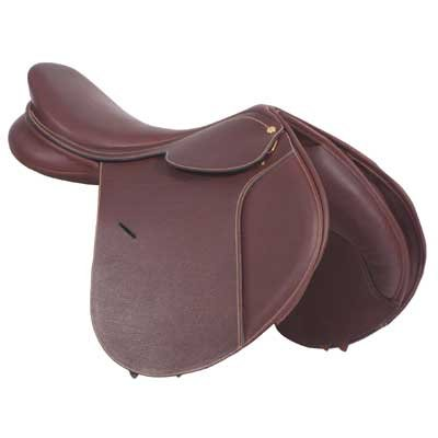 Collegiate Diploma Close Contact Saddle in Havanna Brown - 18 inch Long Flap (Collegiate Diploma Saddle)
