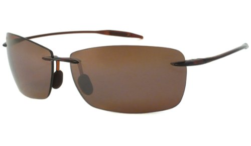 Mens Maui Jim Lighthouse Polarized Sunglasses (Rootbeer Frame/Hcl Bronze Lens)