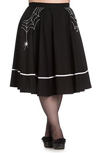 Hell-Bunny-Plus-Size-Black-Miss-Muffet-Spider-Rockabilly-Halloween-Gothic-Swing-Skirt