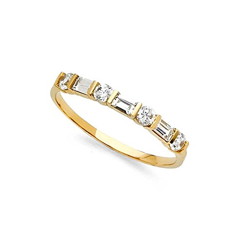 14k Yellow Gold CZ Wedding Ban