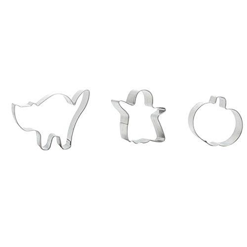 3 Pcs Mini Metal Cookie Cutter Set Halloween|mini tool cookie cutters|mni coolie mold|mni -