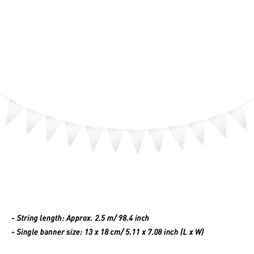 Pennants Burlap Flag Birthday Party Christmas Holiday Hangin
