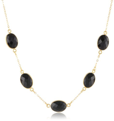 Gold Plated Sterling Gemstone Necklace Extender
