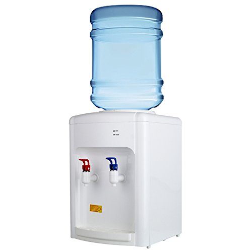 KUPPET 3-5 Gallon Countertop Water Cooler Dispenser-Hot & Cold Water, Idea For Home Office Use, White (16.14inch) by KUPPET