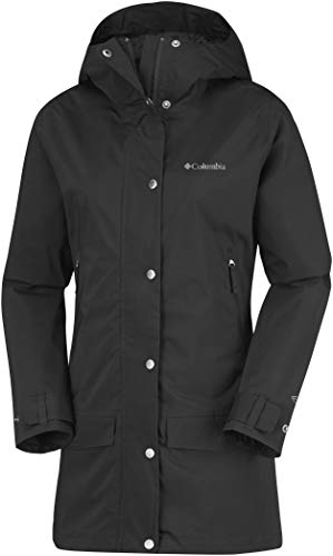 Trench Veste Imperméable Pluie 1773061 Columbia Polyester Rainy De Creek Black Femme Jacket ZRwnqBH