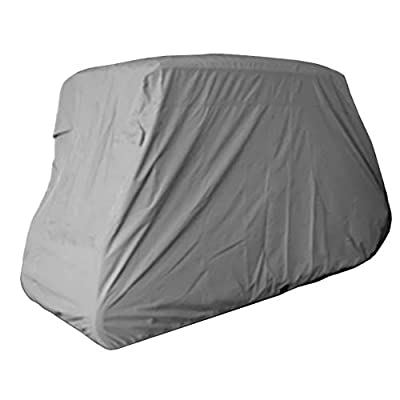 Deluxe 6 Passengers Golf Cart Cover (Grey or Taupe), Fits E Z GO, Club Car, Yamaha Model by bondvast
