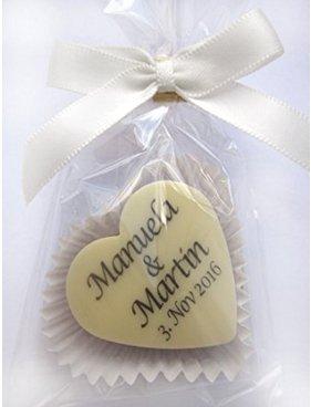 Schokoladen Herzen Hochzeit Taufe Geburtstag Gastgeschenke