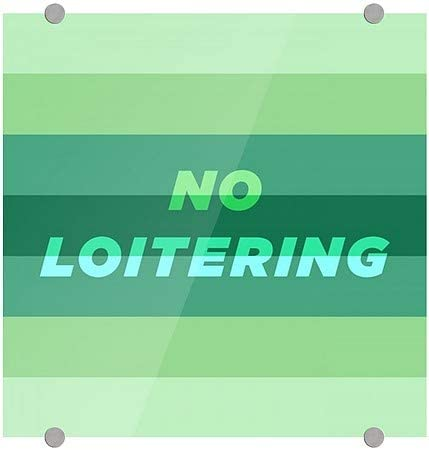 No Loitering 5-Pack CGSignLab 16x16 Modern Gradient Premium Acrylic Sign