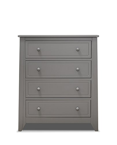 Sorelle Brittany 4 Drawer Dresser, Grey by Sorelle