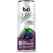 Bai Bubbles Bogotá Blackberry Lime, Antioxidant Infused, Sparkling Water Drinks, 11.5 Fluid Ounce Cans, 12 count (Packaging May Vary)