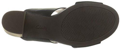 Clarks Banoy Tulia vestido de la sandalia Negro