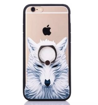 Monkey Cases® - iPhone 6 / 6s - Wolf mit Aufstell-Ring - Handyhülle - Original - Neu - Exklusiv - Back Cover - 4,7 Zoll - Wulf