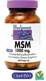 MSM 1000 mg. by Bluebonnet 120 Vegetarian Capsules