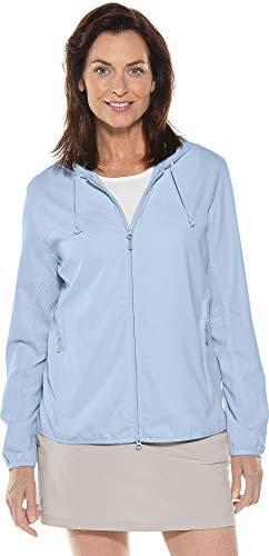 Coolibar UPF 50+ Women's Packable Sunblock Jacket - Sun Protective (2X- Light Blue) ()