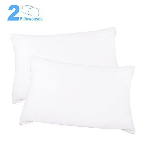Review Adoric Life 100% Cotton Pillow Cases Queen, Hypoallergenic Pillow Cover, Double-Stitched, Env...