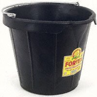 Fortex/fortiflex N939-18 Molded Rubber Pail, 18 Qt, Black