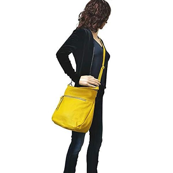 bolso de cuero genuino para mujer Bolsos bandolera GL031 AmbraModa bolso de mano bolso de hombro