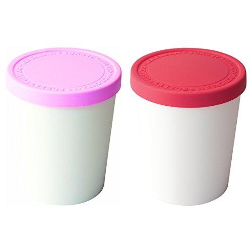 Tovolo Sweet Treats 2 Piece 1 Quart Raspberry and Pink Tub (Treat Tub)