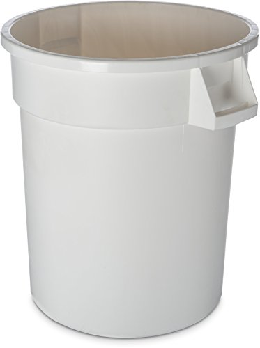 - Carlisle 34102002 Bronco Round Waste Container Only, 20 Gallon, White