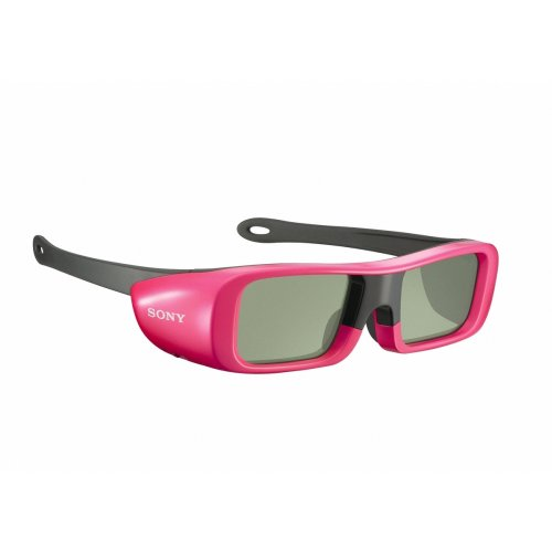 Sony TDG-BR50/P Youth Size 3D Active Glasses, Pink