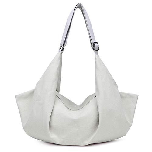 Messenger Canvas Satchel Borsa Casual Crossbody Fashion Bag Ladies Borse Tracolla Multifunzione a Bianca CHENGYI UpTHT
