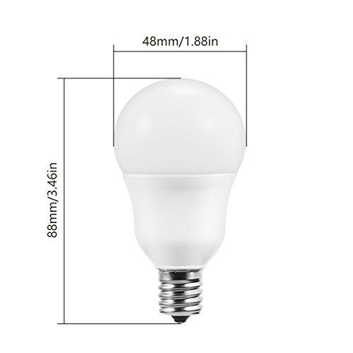 Doresshop E17 Base Light Bulb 5w 60w Equivalent Soft White 3000k