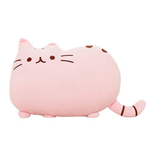 Weichem Plüsch Süße Katze Form Kissen kissenpolster Sofa Spielzeug Wohnkultur 5 Farbe (Pink)