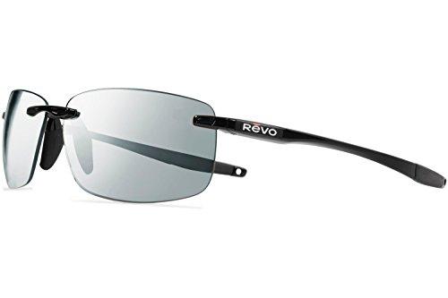 Revo Descend N Sunglasses, Black Frame, Stealth 64mm Lenses, part of the Serilium Collection  - Sunglasses Revo Parts