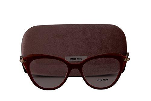 Miu Miu MU01QV Eyeglasses 50-17-140 Red w/Demo Clear Lens VX91O1 MU 01QV VMU01QV VMU - Miu Glasses Miu Red