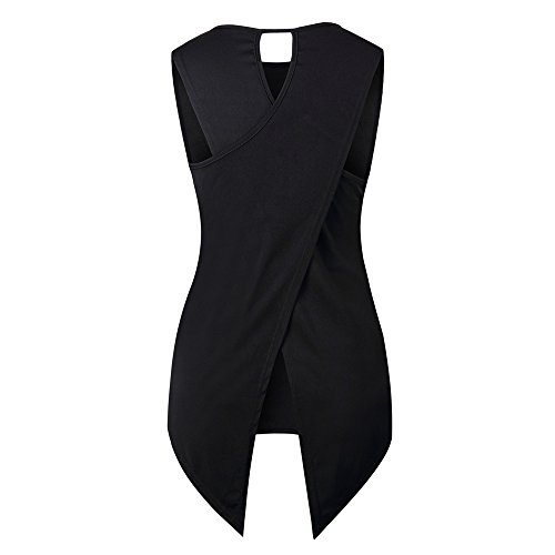 BXzhiri Sexy Vest for Women Back Sleeveless Blouse Ladies Strappy Camisole Tank Tops Cross Black by Bxzhiri_Women Tops (Image #4)